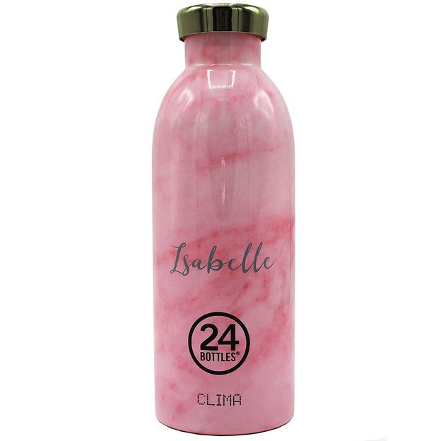 Personalisierbare 24Bottles Trinkflasche Clima 500ml Pink Marble