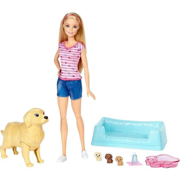 Barbie Hundemama und Welpen