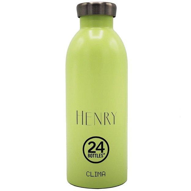 Personalisierbare 24Bottles Trinkflasche Clima 500ml Pistachio Green