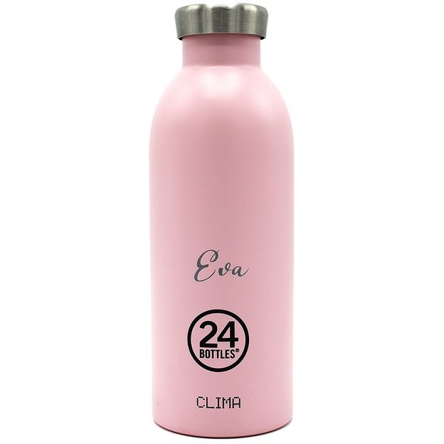 Personalisierbare 24Bottles Trinkflasche Clima 500ml Candy Pink