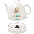 "Keramik - Teekanne und Wasserkocher in einem ""Drama Llama"", 0.8l"