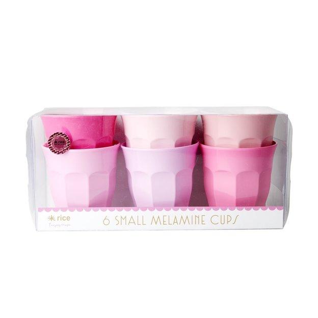 Tasses Shades of Pink Rice, set de 6