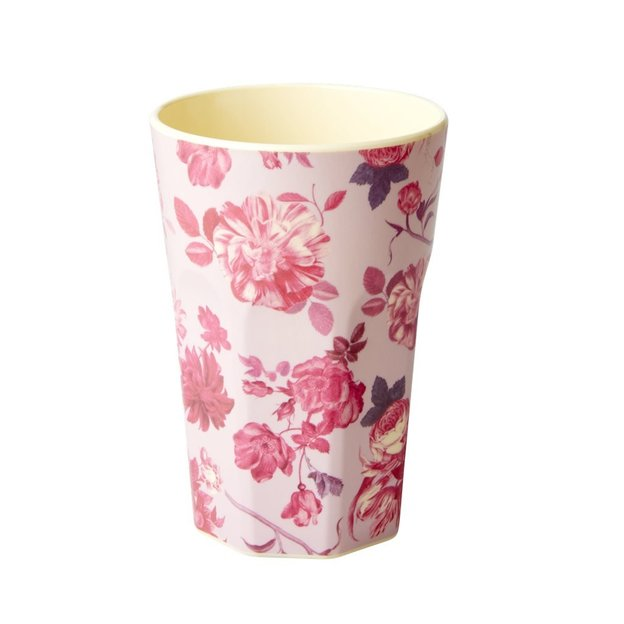 Rice Becherset Rose Print tall 2 Stk.