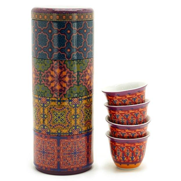 Boîte avec 4 tasses Vagabonde