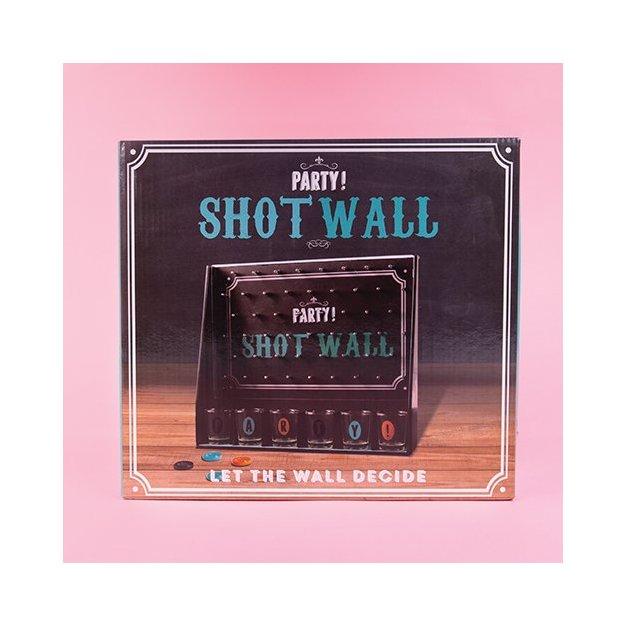 Trinkspiel Shot-Wall mit 6 Shotgläsern