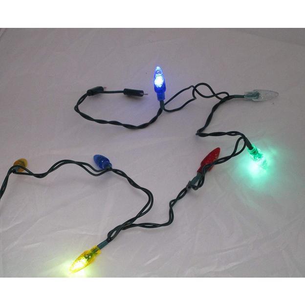 Ladekabel 8 bunte LED Lichter - Android und iPhone