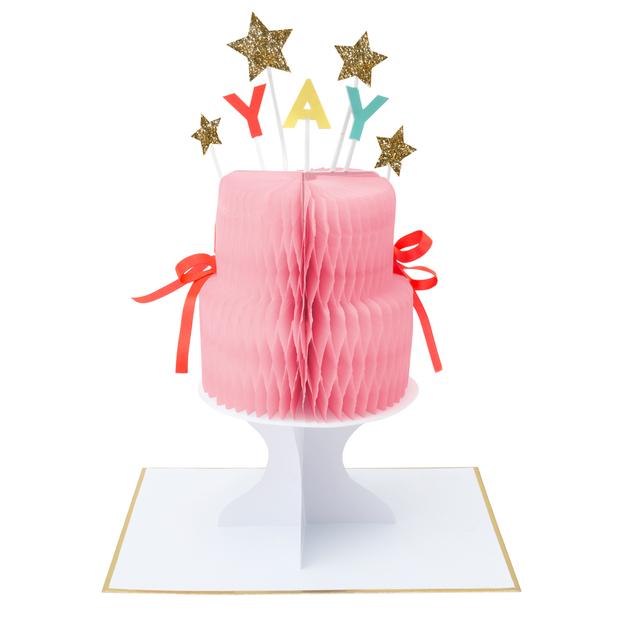 Grusskarte Partydeko Yay Cake