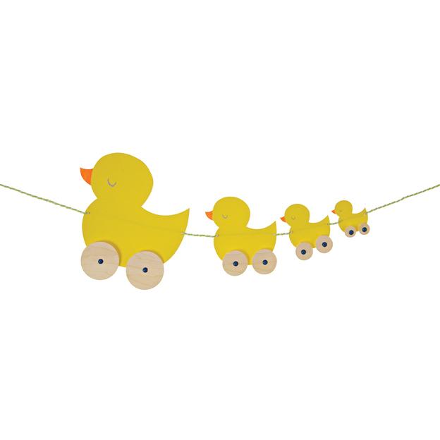 Carte de vœux décoration de fête Baby Duck Train