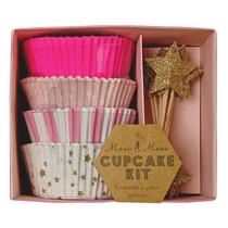 Kit cupcake Pink Star