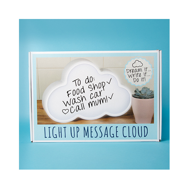 Message Lichtbox Wolke