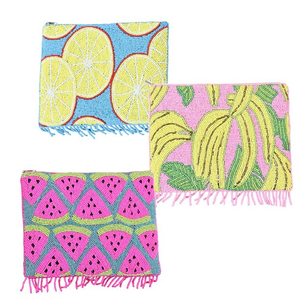 Perlenclutch Set Fruits 3-tlg