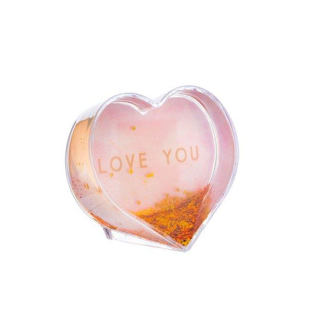 Cœur à paillettes Love You