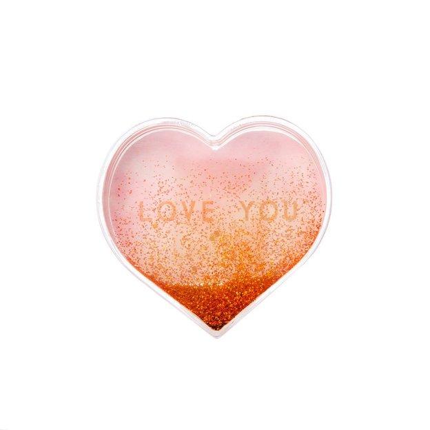 Glitzerherz Love You