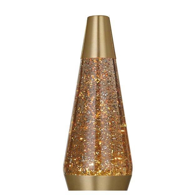 Lampe à lave pailletée or