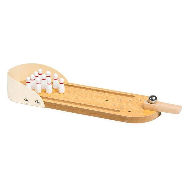 Mini jeu de bowling en bois