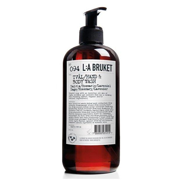 Savon-liquide L:A Bruket No.94 sauge, romarin et lavande 450 ml