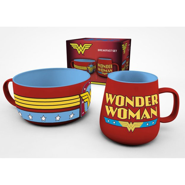 Ensemble petit-déjeuner Wonder Woman DC Comics