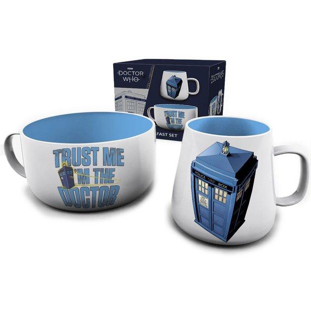 Set petit-déjeuner Doctor Who Tardis