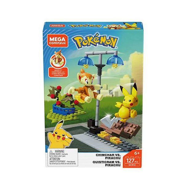 Pokémon Mega Construx Bauset Pikachu vs. Panflam