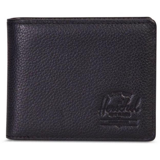Porte-monnaie Herschel Hank + Coin Leather, noir