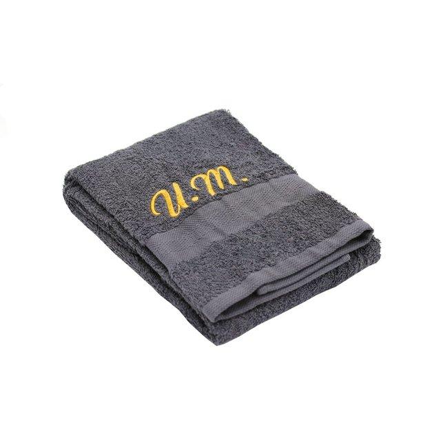 Personalisierbares Handtuch Set 3-tlg anthrazit