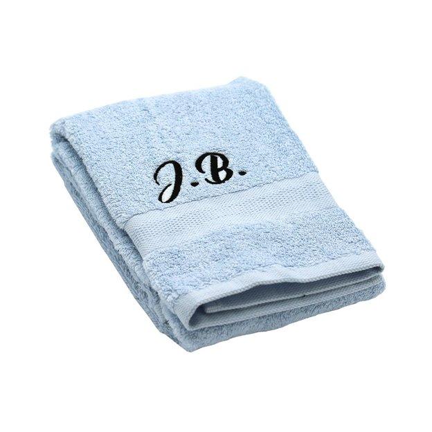 Personalisierbares Handtuch Set 3-tlg himmelblau