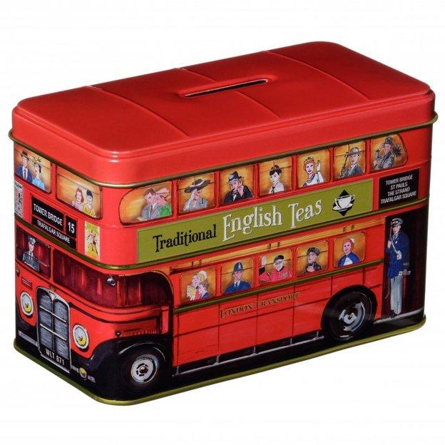 New English Teas - London Bus Sparkässeli, 25 original Englishe Afternoon Teebeutel