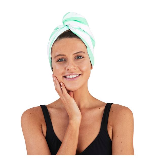Serviette à cheveux Wrap Narabeen vert