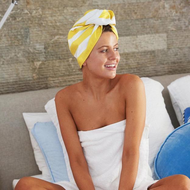 Serviette à cheveux Wrap Boracay jaune