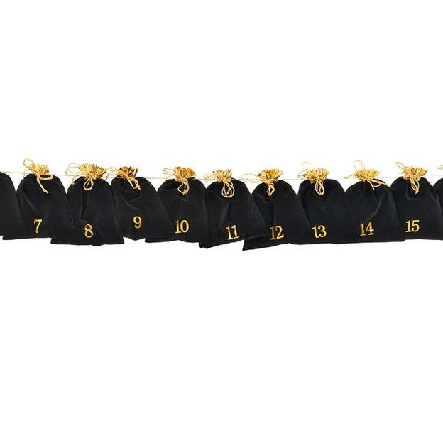 geschenkidee.ch Adventskalender Schwarz-Gold
