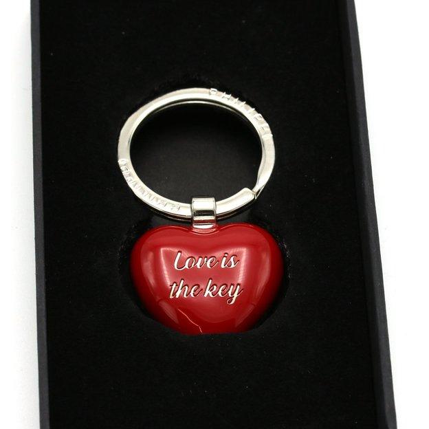 Porte-clés cœur rouge personnalisé