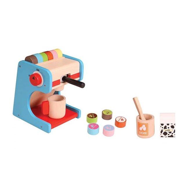 Machine à café jouet avec capsules