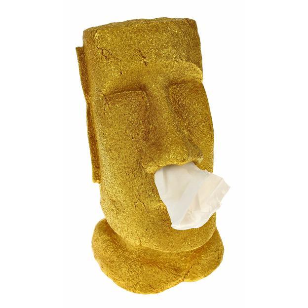 Distributeur de mouchoirs Moaï or