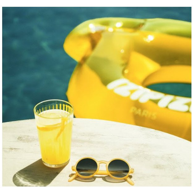 Bouée lunettes jaunes Izipizi Sunnylife
