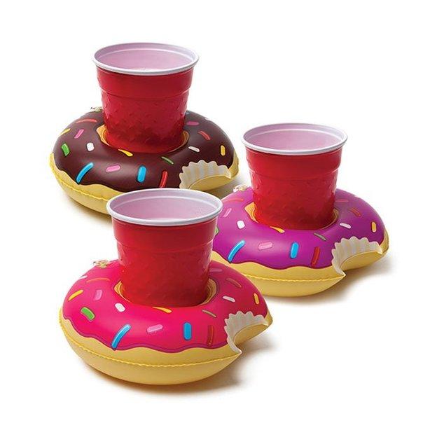 Aufblasbare Getränkehalter Donut im 3er Set
