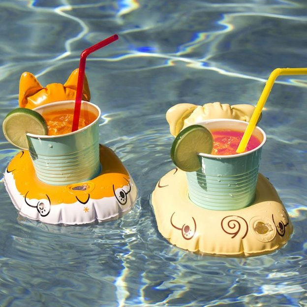 Porte-gobelets Chien gonflables, set de 2 Sunnylife
