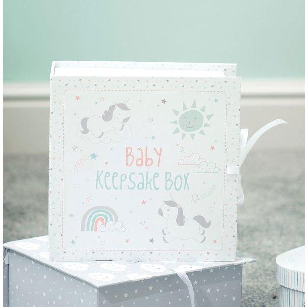 Boîte de rangement bébé souvenirs