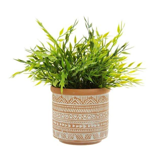 Pot de fleurs Geo terracotta