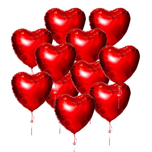 Folienballone Herz 30 Stück