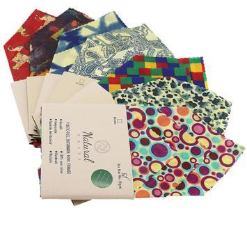 Emballages écologiques Et Biodégradables Natural Waxed Wraps Set De 3