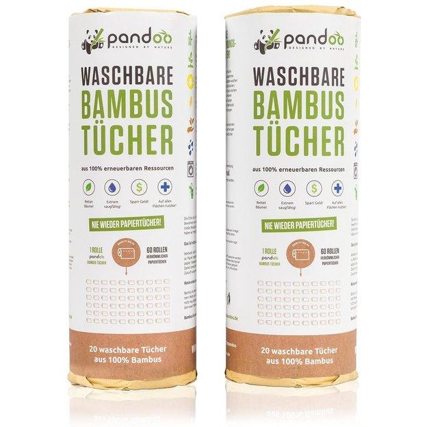 pandoo Bambus Küchenrolle wiederverwendbar