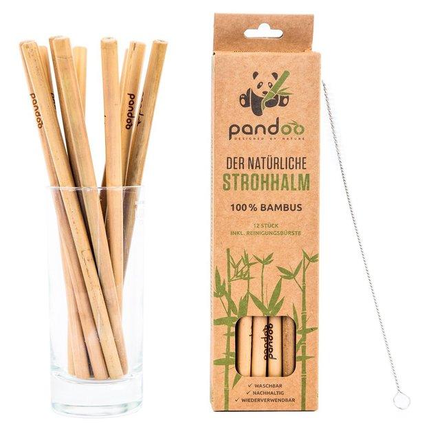 Pailles en bambou pandoo