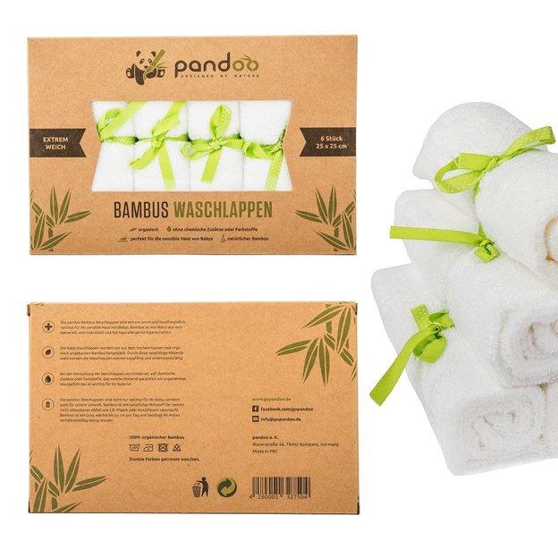 pandoo Bambus Waschlappen Set Frottee