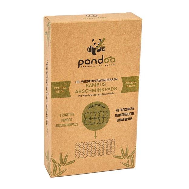Lingettes en coton et bambou réutilisables pandoo