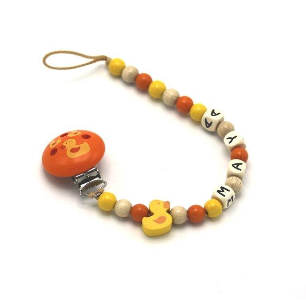 Personalisierbare Nuggikette Ente orange
