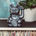 Winkekatze Lucky Cat für Meditation 15cm galaxy
