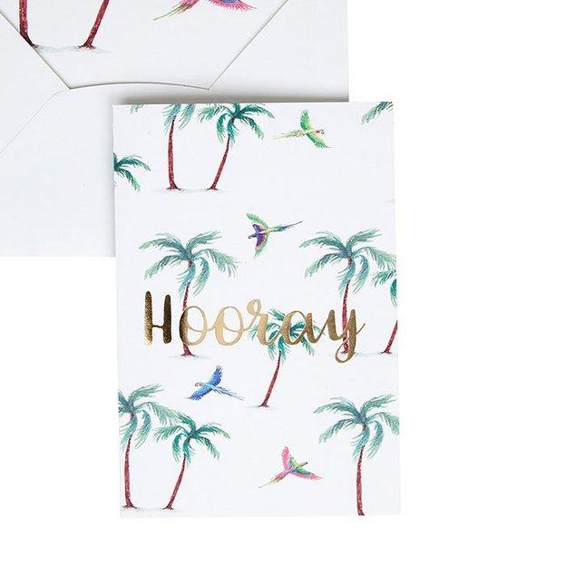 Carte de vœux Parrot Palm Hooray