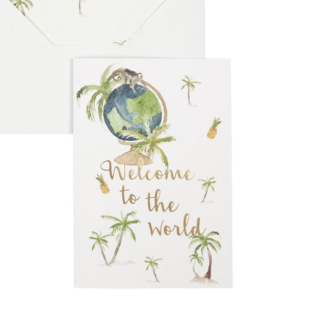 Carte de vœux Welcome To The World
