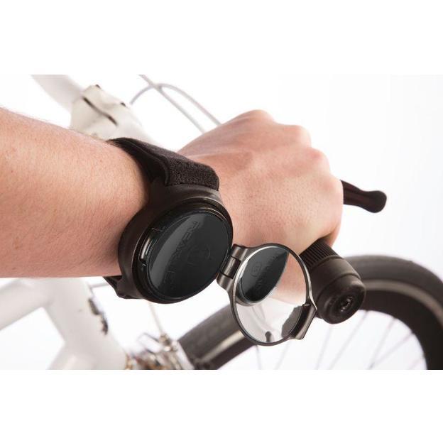 Bracelet rétroviseur de vélo rotatif