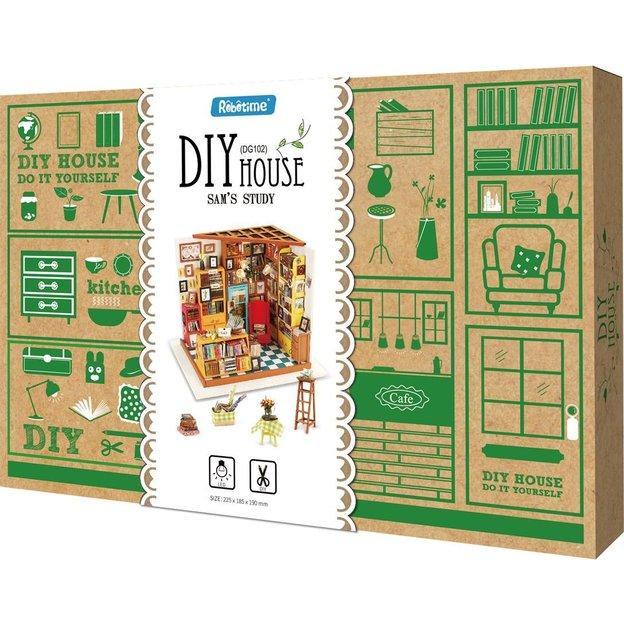 Bibliothèque en bois miniature DIY